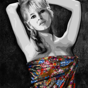 Inamorata is an art collection by Kristel Bechara based on legendary beauties-Brigitte Bardot