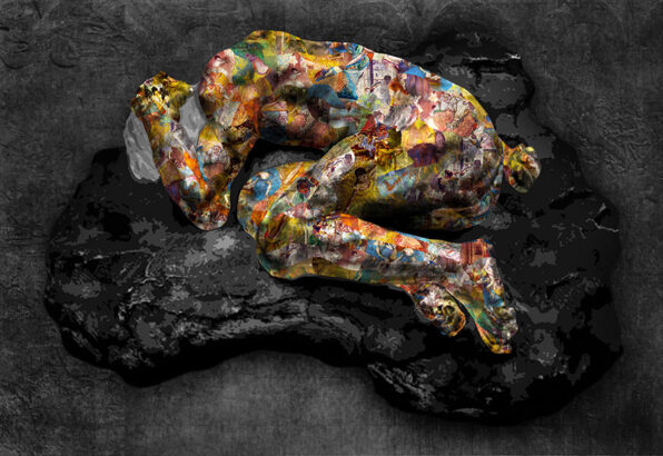 """Historical artwork is reintroduced with a modern flair with Kristel Bechara's """"Tribute to the Masters"""" art collection-Despair"""