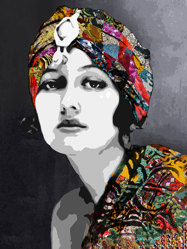Inamorata is an art collection by Kristel Bechara based on legendary beauties-Doris