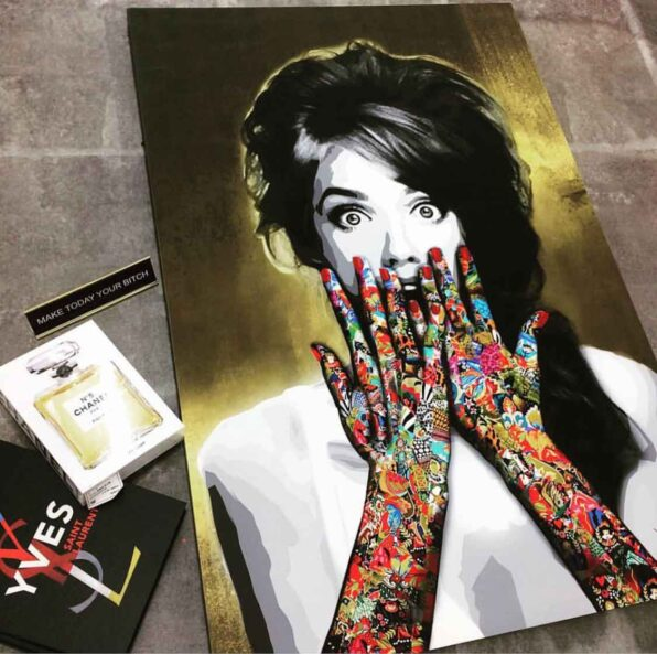 """In this """"Vixen"""" painting of the ask a woman art collection, Kristel Bechara delves into women psyche. Worldwide delivery available!"""