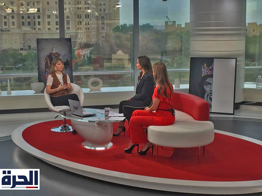 Kristel-Bechara-Al-Hurra-TV-April 2019
