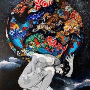 Kristel Bechara- Atlas 90x150cm
