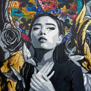 Kristel Bechara- Faith Hope & Charity- 90x150cm