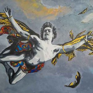 Kristel Bechara- Icarus- The Prince of Heaven - 90x150cm
