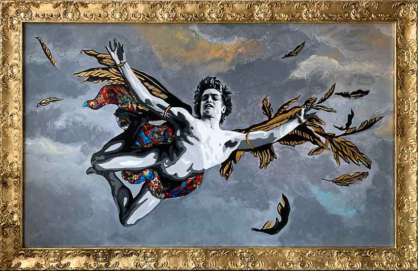 Kristel Bechara- Icarus- The Prince of Heaven - Frame