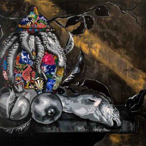 Kristel Bechara-Nightime Escape- 100x115cm