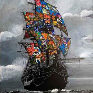 Kristel Bechara-Sea of Life-70x115cm