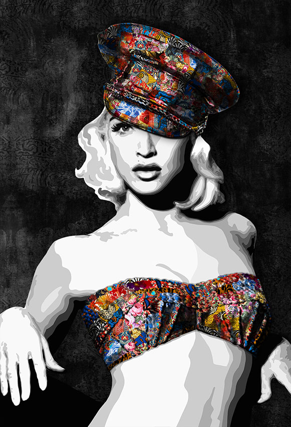 """Inamorata"" is an art collection by Kristel Bechara based on legendary beauties-Madonna"