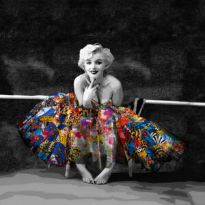 Inamorata is an art collection by Kristel Bechara based on legendary beauties-Marilyn Monroe