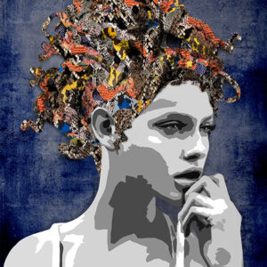 """Kristel Bechara's unique interpretation, artistic style, and perception is illustrated in """"Mystic Voices"""" paintings of this art collection-Medusa"""