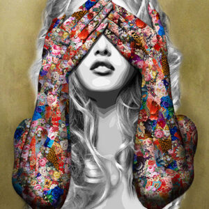 """Kristel Bechara's unique interpretation, artistic style, and perception is illustrated in """"Mystic Voices"""" paintings of this art collection-See No Evil II"""