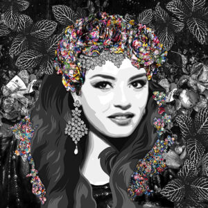 Inamorata is an art collection by Kristel Bechara based on legendary beauties-Sherihan