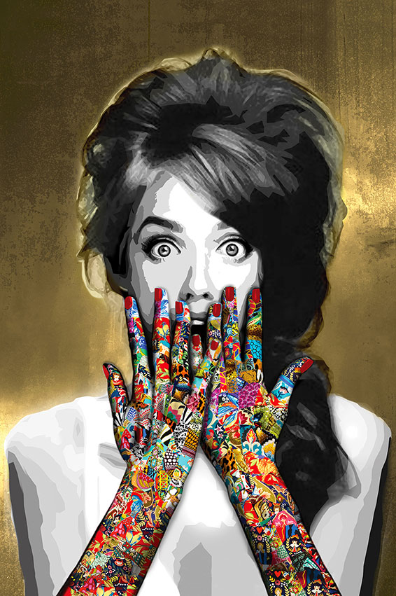 Ask a Woman is an art collection by Kristel Bechara representating a celebration of a woman's freedom-Speak No Evil