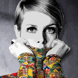 Inamorata is an art collection by Kristel Bechara based on legendary beauties-Twiggy