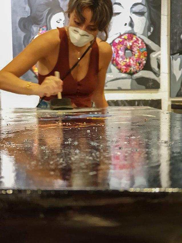 Kristel Bechara the UAE Resident Artist Award winning contemporary female artist shares her 5 tips to varnish artwork