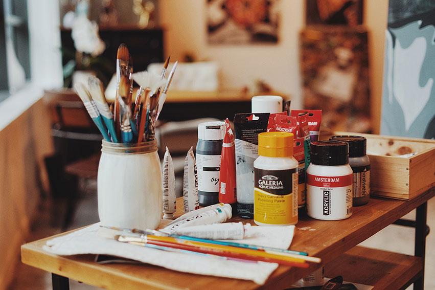 Kristel Bechara, UAE Resident Award winning artist, shares her easy steps to keep your art supplies organized