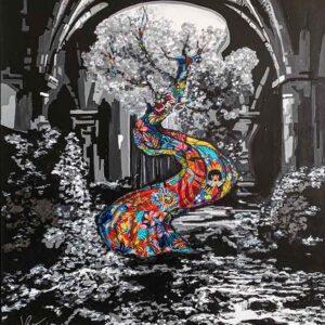 Kristel Bechara - The Tree of Knowledge-70x90cm