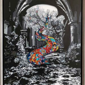 Kristel Bechara - The Tree of Knowledge-70x90cm-Frame