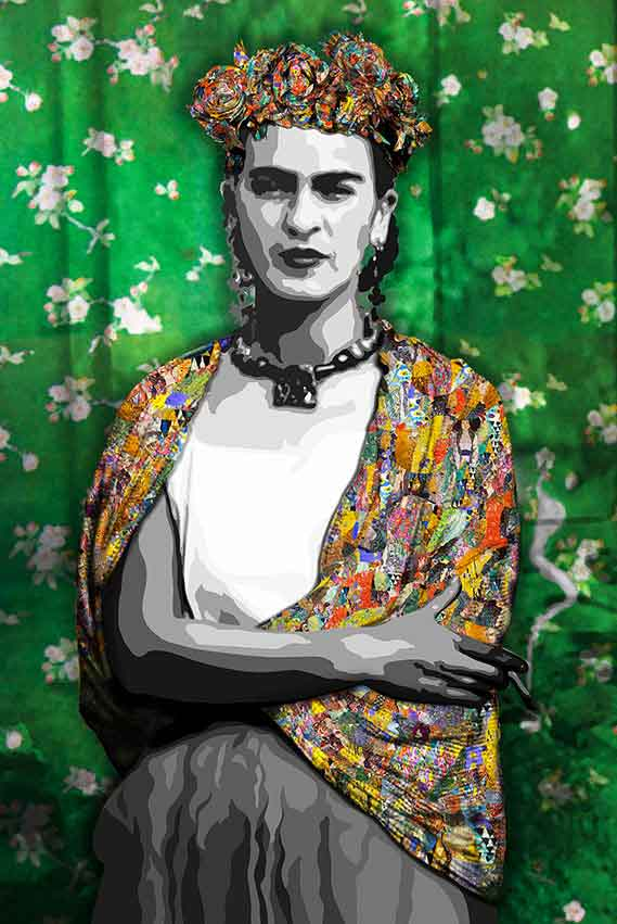 Contemporary painting by Kristel Bechara- Tribute to the Masters Frida Klimt