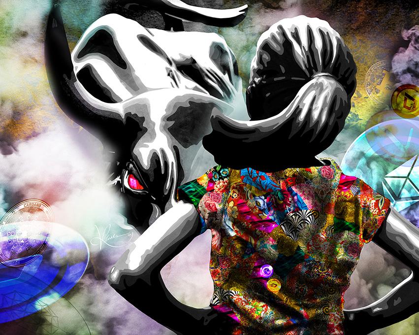Kristel Bechara sells digital artwork as Non-Fungible Token-Don't Defy DeFi